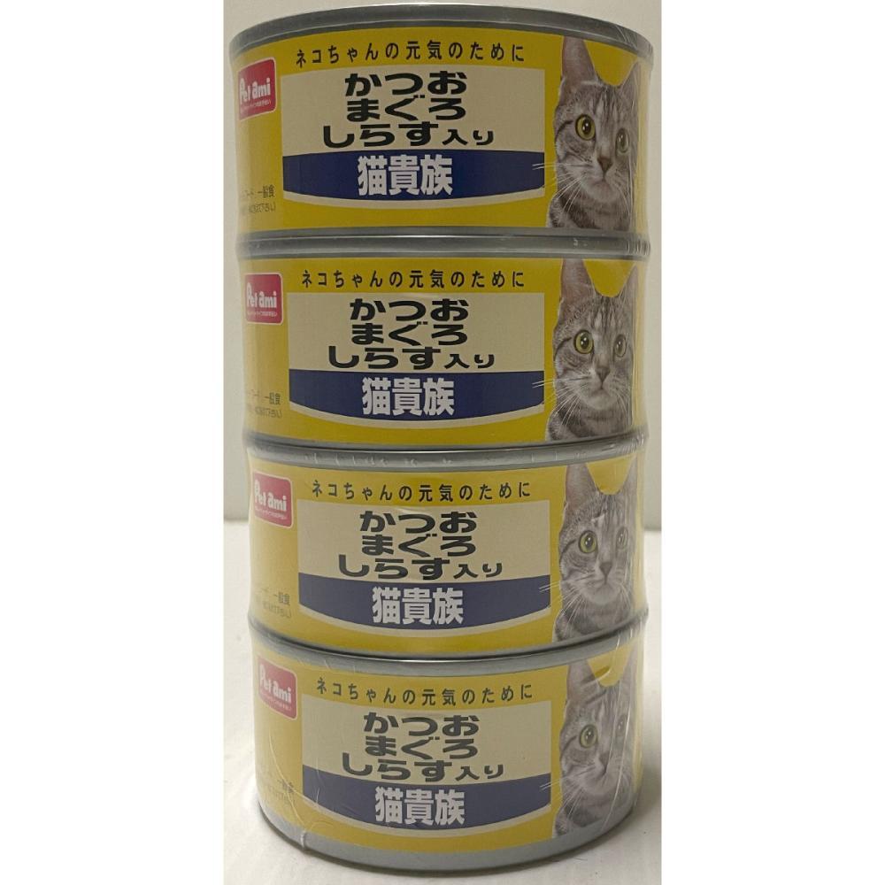 Petami 猫貴族 かつお・まぐろ しらす入り 4缶パック