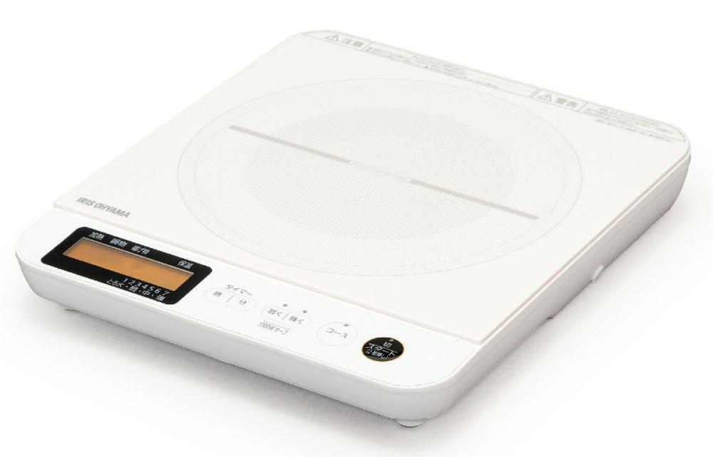 IHコンロ1400W 液晶付き IHC-T71-W ホワイト