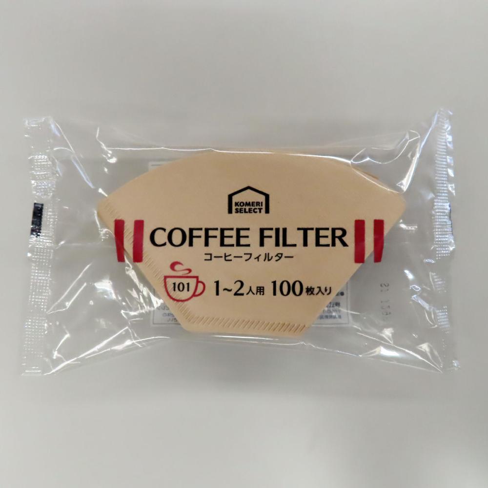 コメリセレクト コーヒーフィルター 無漂白 101 100枚