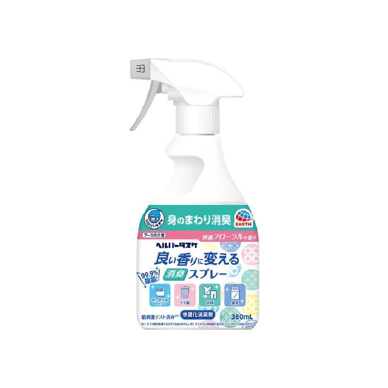 アース製薬 ヘルパータスケ 消臭スプレー 快適フローラルの香り 380ml