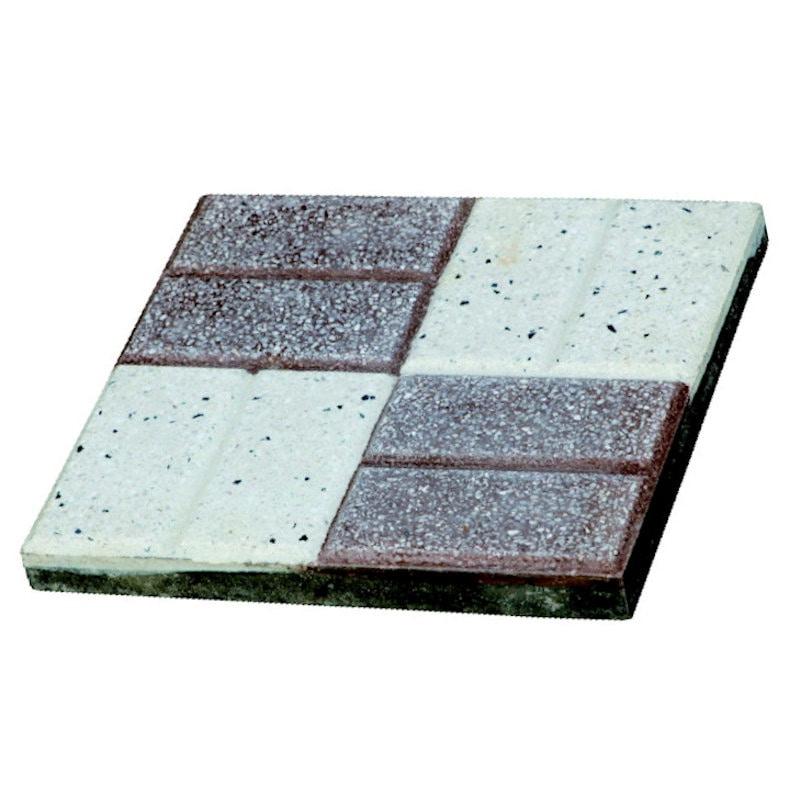 チェッカー平板 25×25×3cm ブラウン