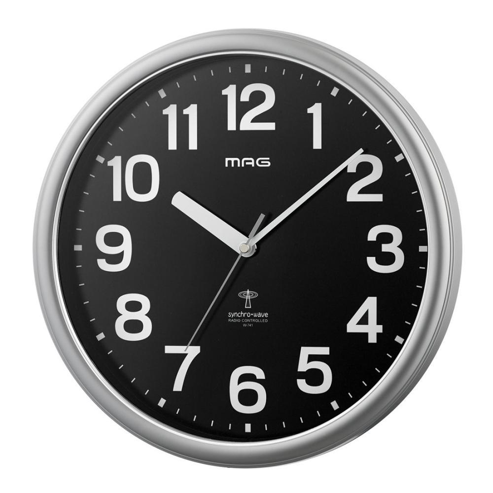 ノア精密 MAG 電波掛時計 ネメシス シルバー W-741 SM-Z