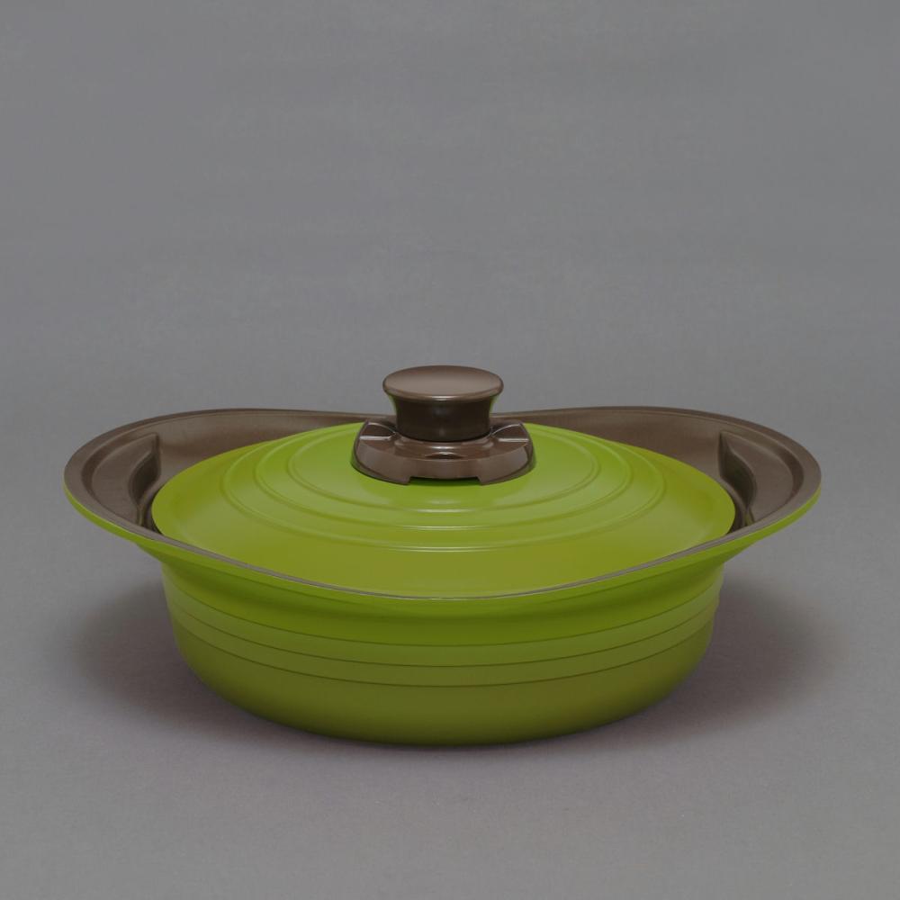 無加水鍋 24cm 浅型 MKSS-P24S グリーン