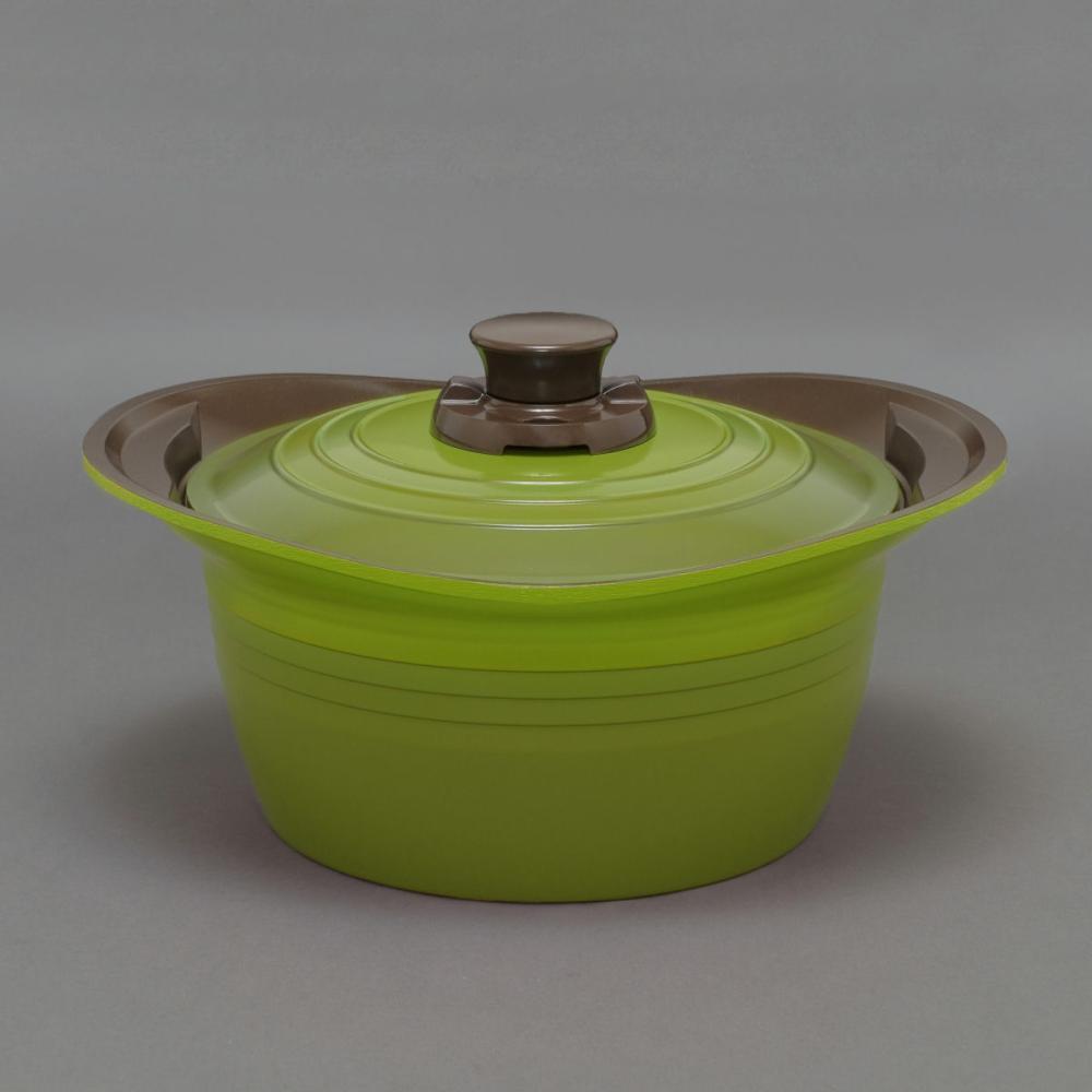 無加水鍋 24cm 深型 MKSS-P24D グリーン