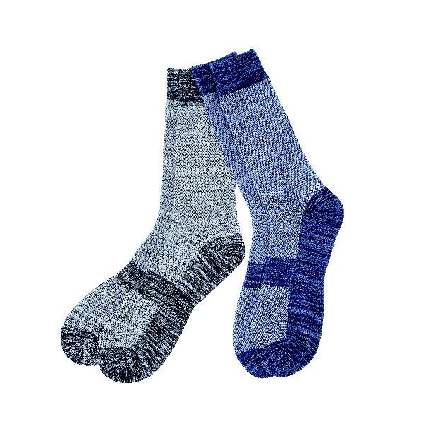 冷感メッシュWサポート靴下 クルー丈 2足組