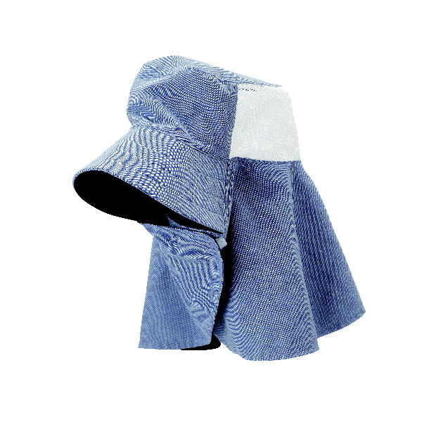 鼻まで隠れて日焼けを防ぐUVカット農帽 ネイビー