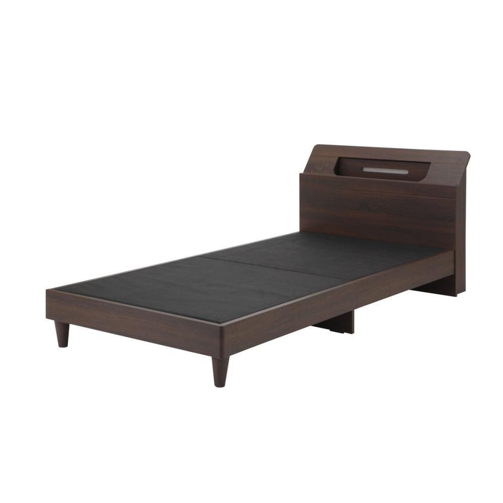 アテーナライフ 木製ベッド エアリーズ ライト・コンセント付 シングル NP-1992SR