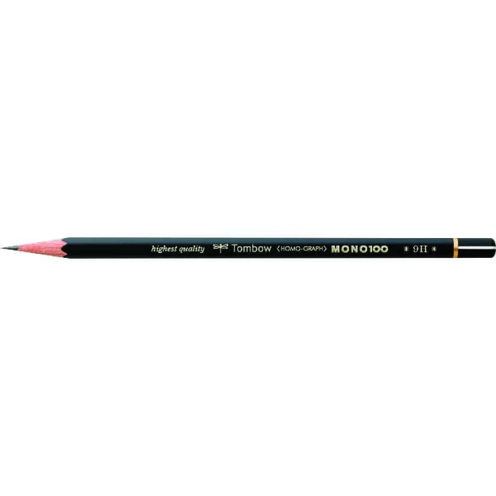 トンボ鉛筆 鉛筆 MONO 100 9H