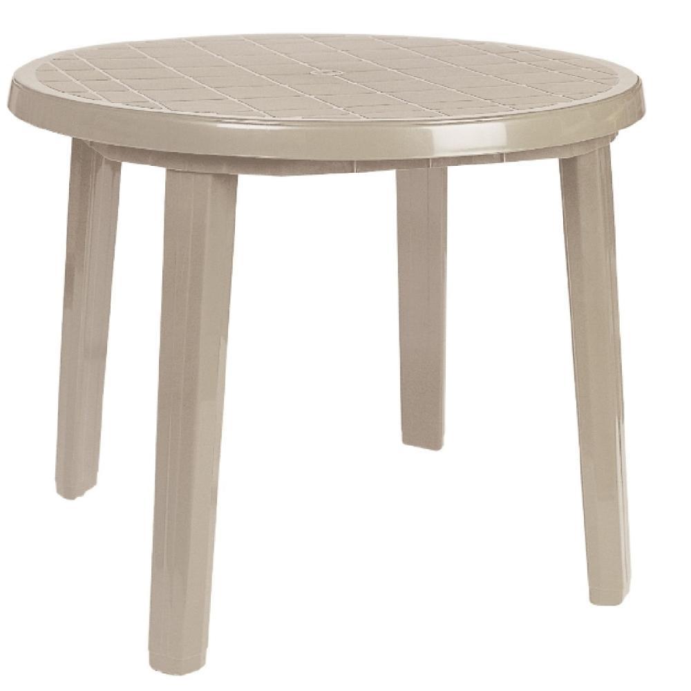 プラスチックテーブル 90cm ベージュ