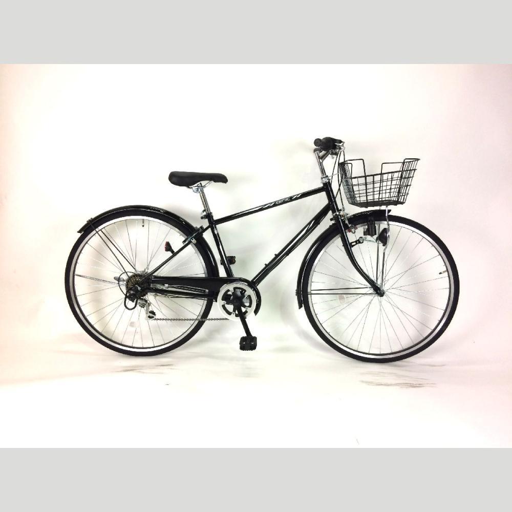パンクしにくい変速カゴ付クロスバイク 27インチ ブラック 276D20