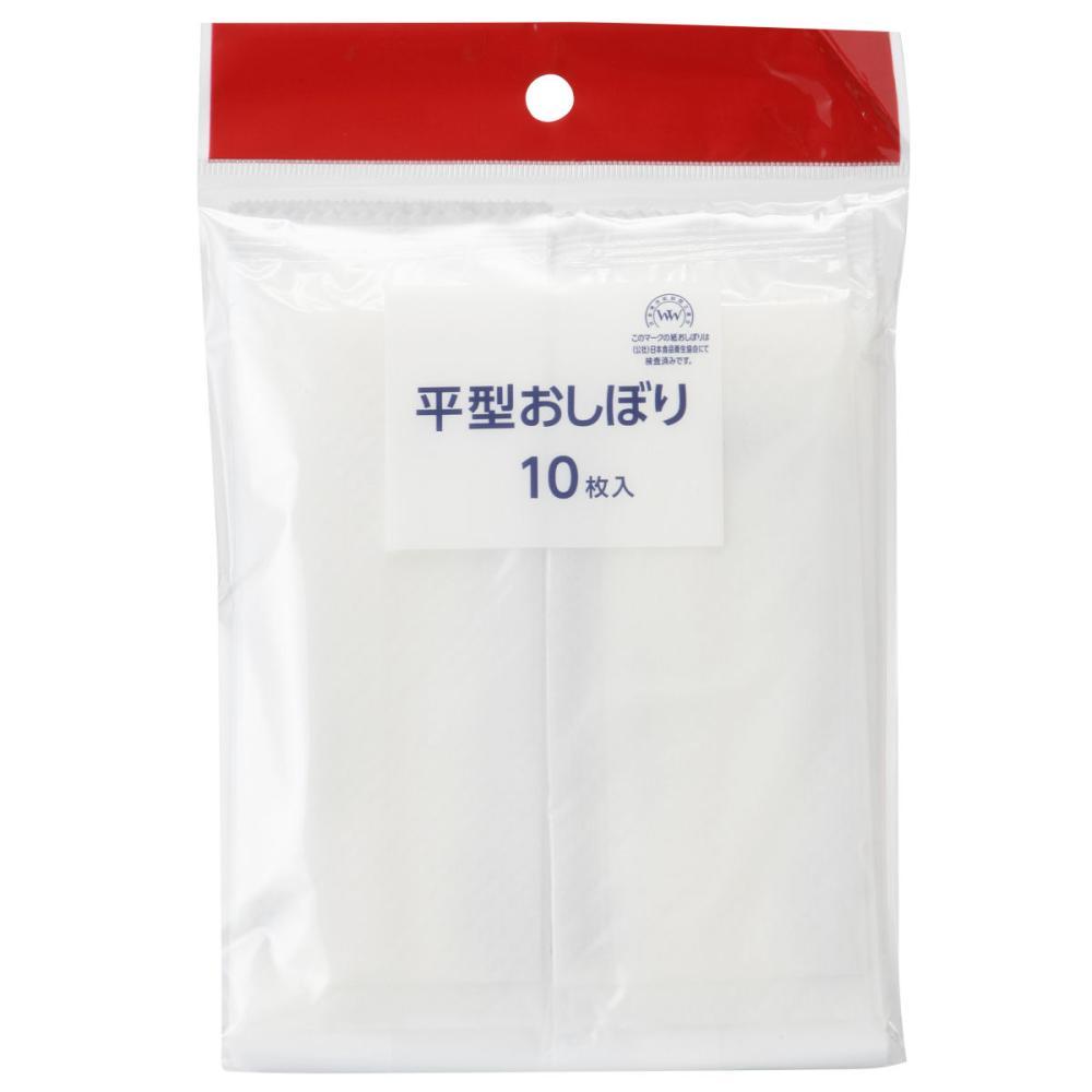 コメリセレクト おしぼり 平型 45g 10枚 KM-019