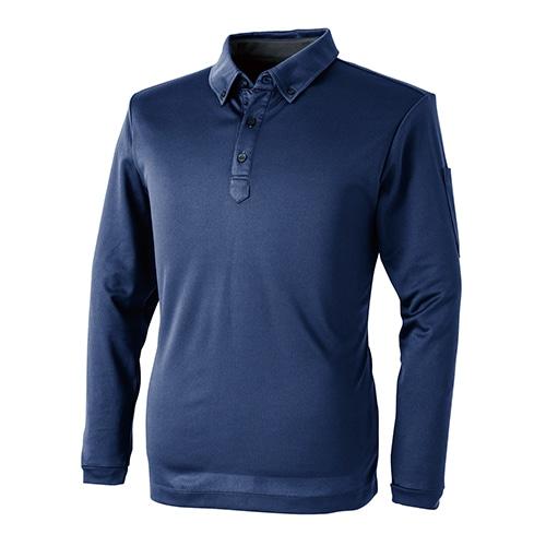 1110パフォーマンス長袖ポロシャツ02 紺 各サイズ
