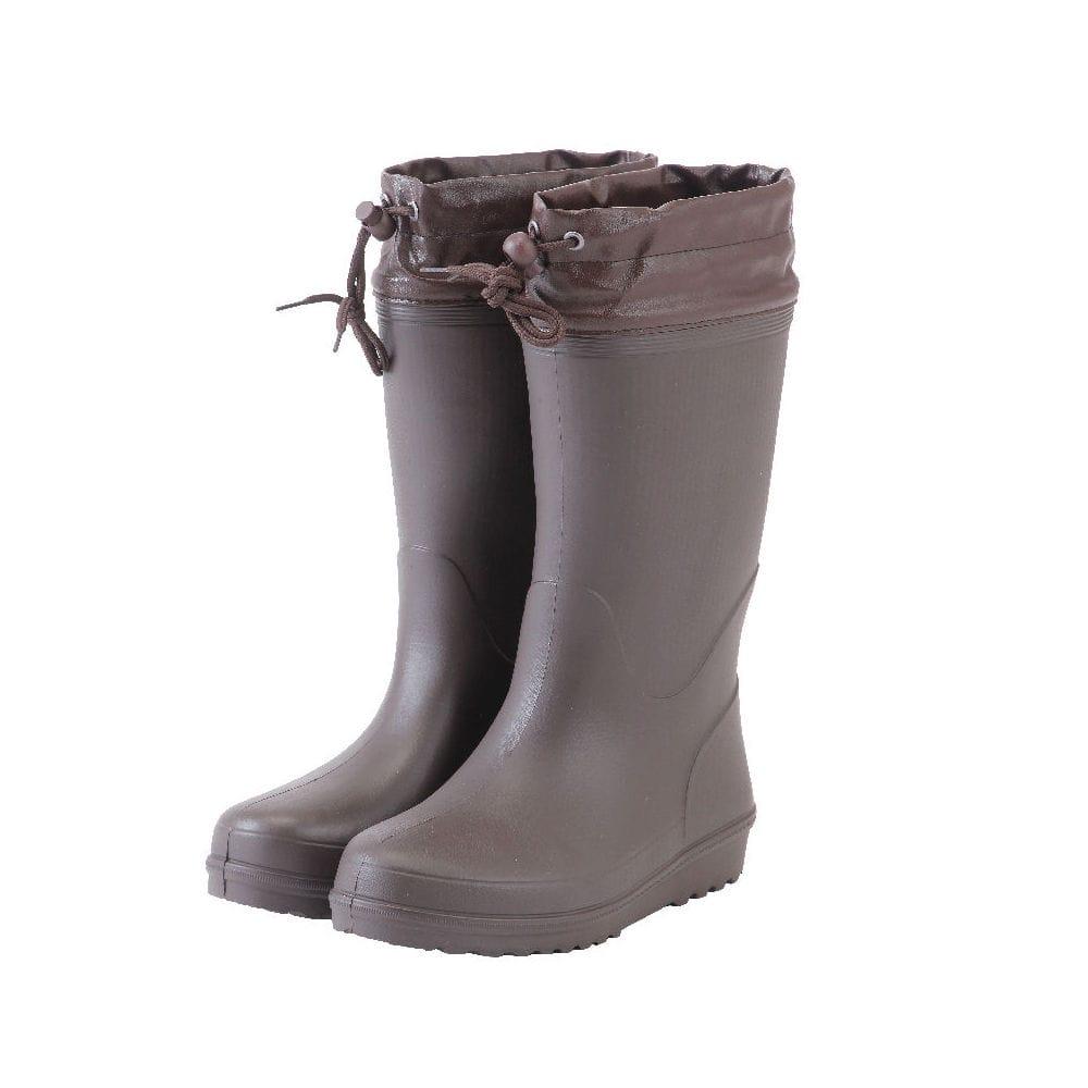 コメリ カバー付かるいロール底長靴 ブラウン S 22.5~23cm