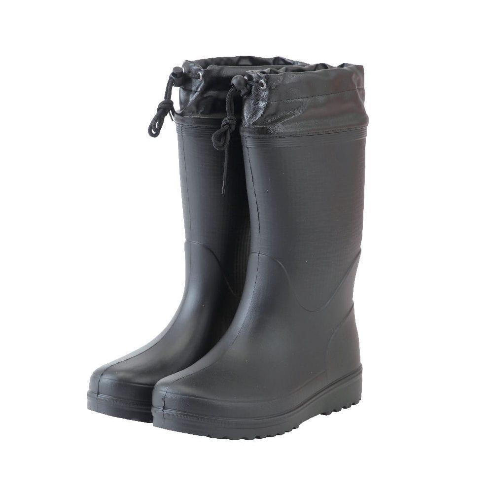 コメリ カバー付かるいロール底長靴 ブラック M 24.5~25cm