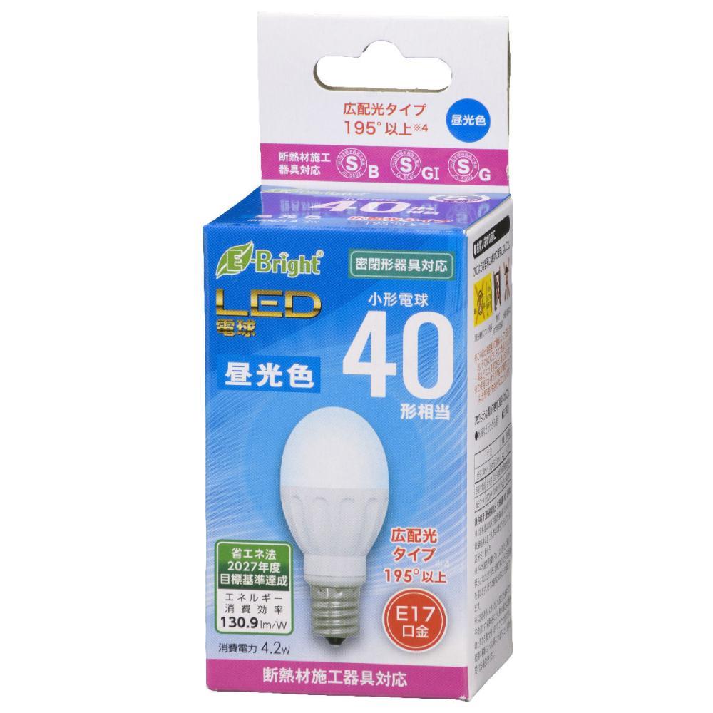 オーム電機 LED電球 小形 E17 40形相当 昼光色 断熱材施工器具(SB・SGI・SG形表示器具)対応 LDA4D-G-E17 IH22