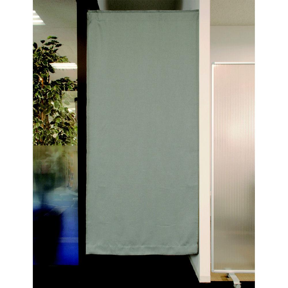 間仕切りカーテン ツイル グレー 95x135 1枚入り
