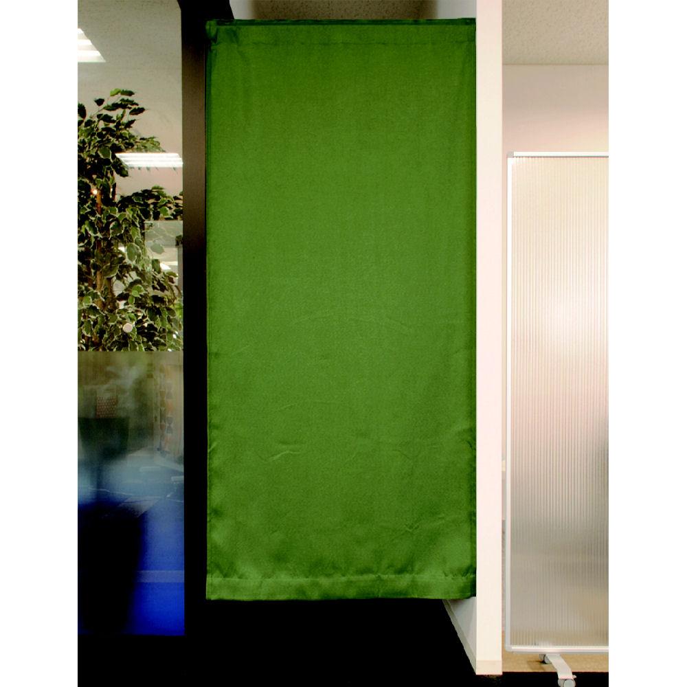 間仕切りカーテン ツイル グリーン 95x135 1枚入り