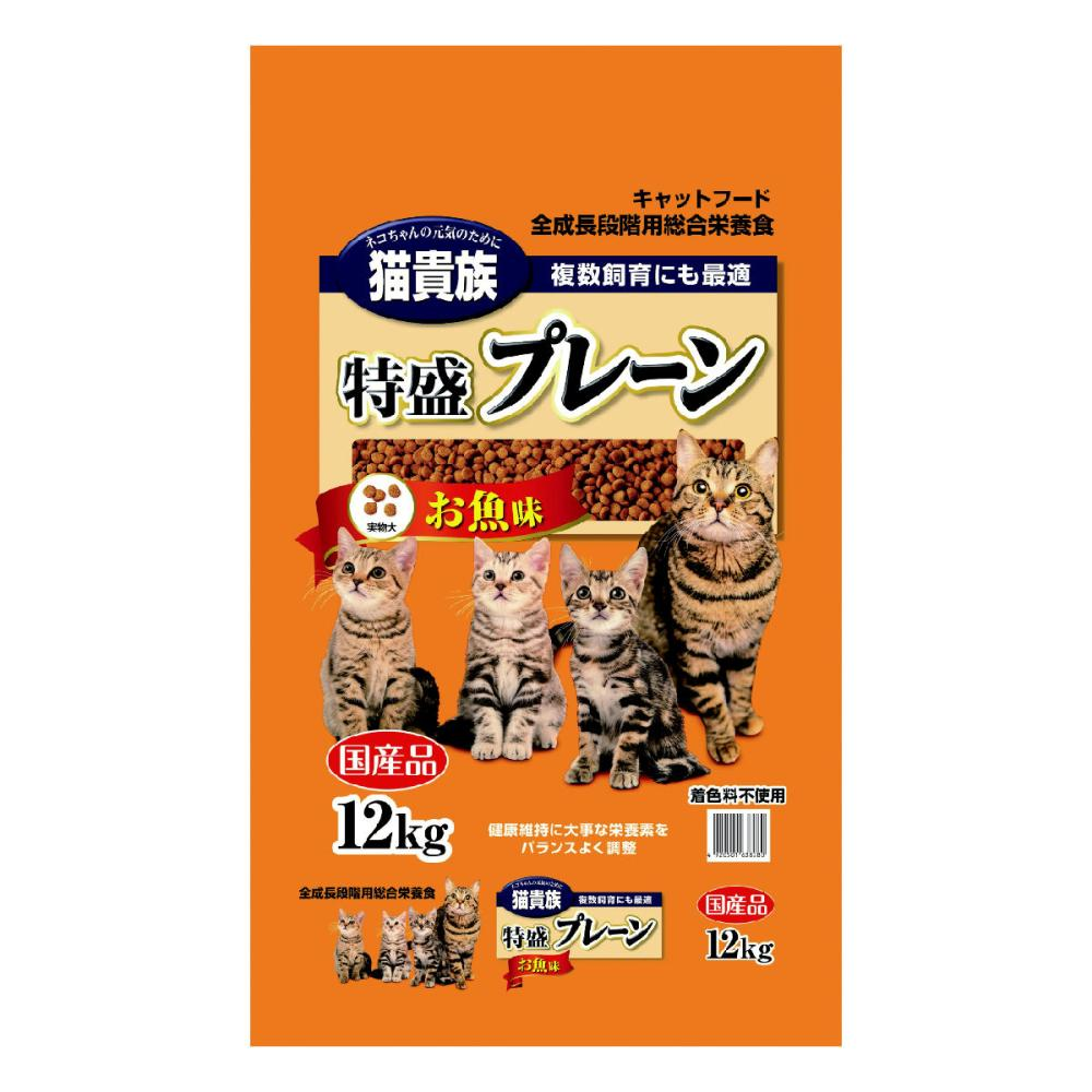 Petami 猫貴族 特盛プレーン お魚味 12kg
