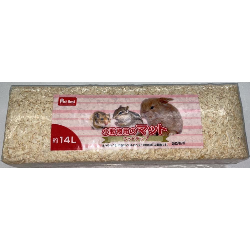 Petami 小動物用のマット ウッドチップ 14L