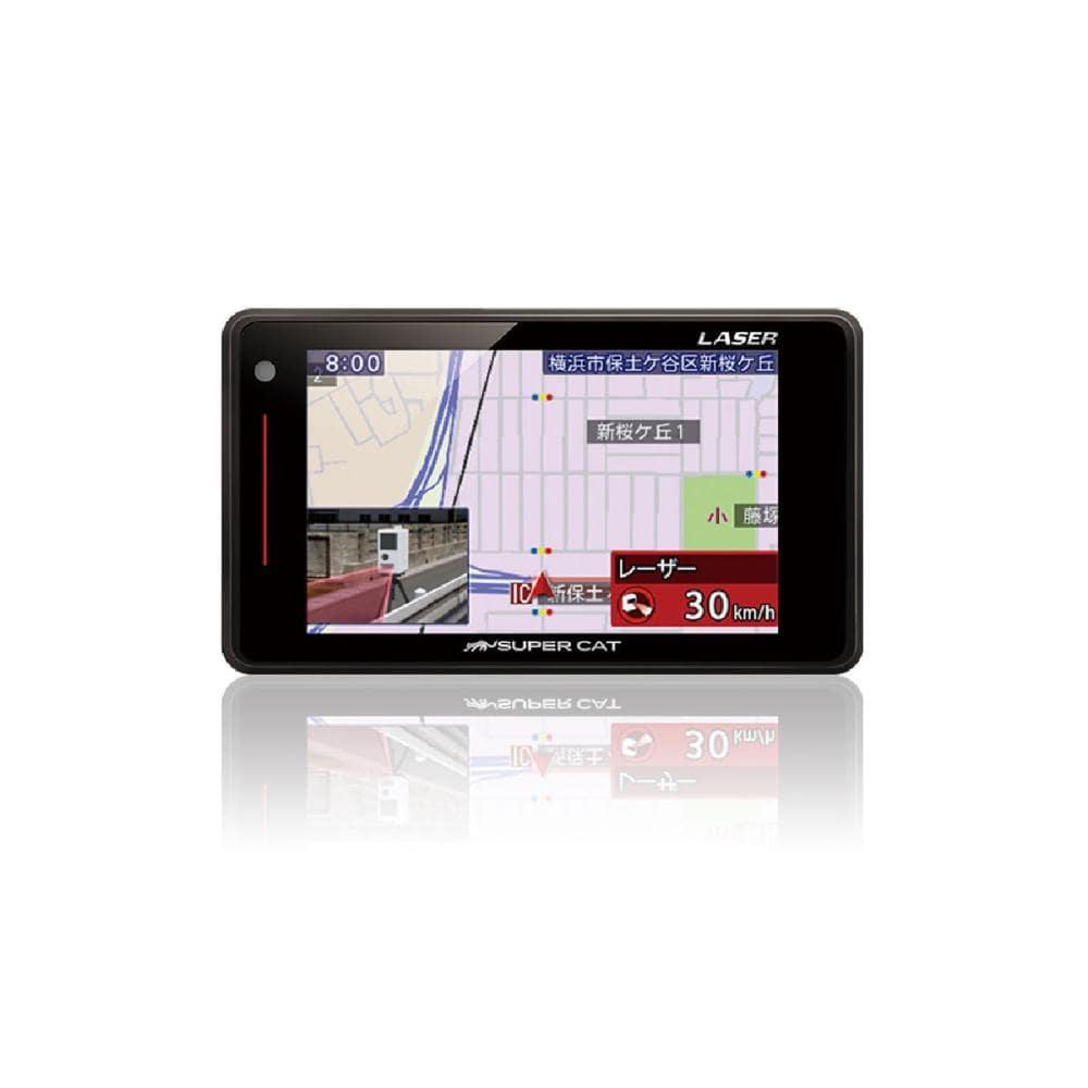 ユピテル スーパーキャット GPSアンテナ内蔵レーザー&レーダー探知機 GS203