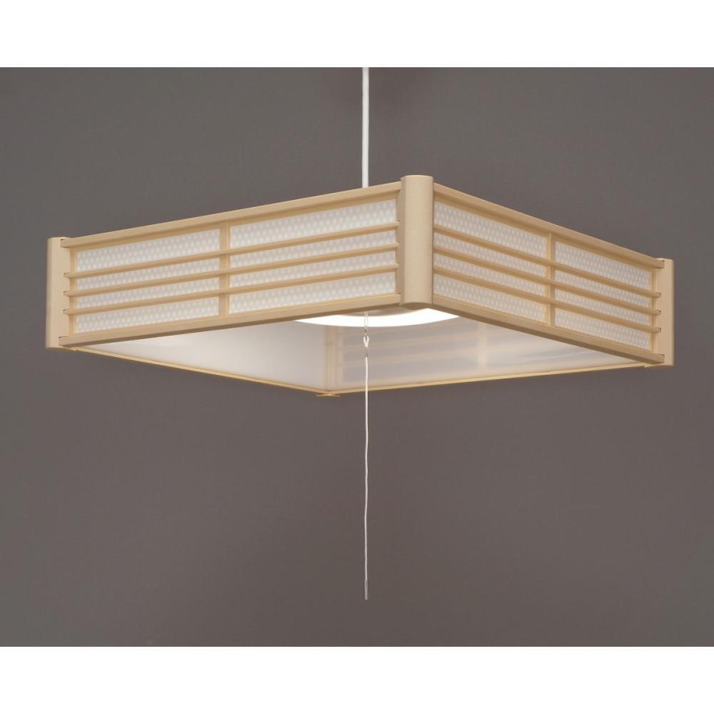 アイリスオーヤマ LED和風ペンダントライト 6畳調色 籠目 PLM6DL-KG