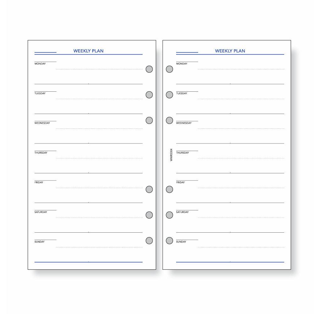 レイメイ システム手帳 リフィル ウィークス 2週間スケジュール WWR5304