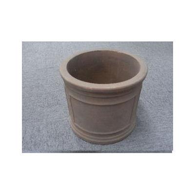 アンティークテラコッタシリンダー 直径18cm ダークブラウン
