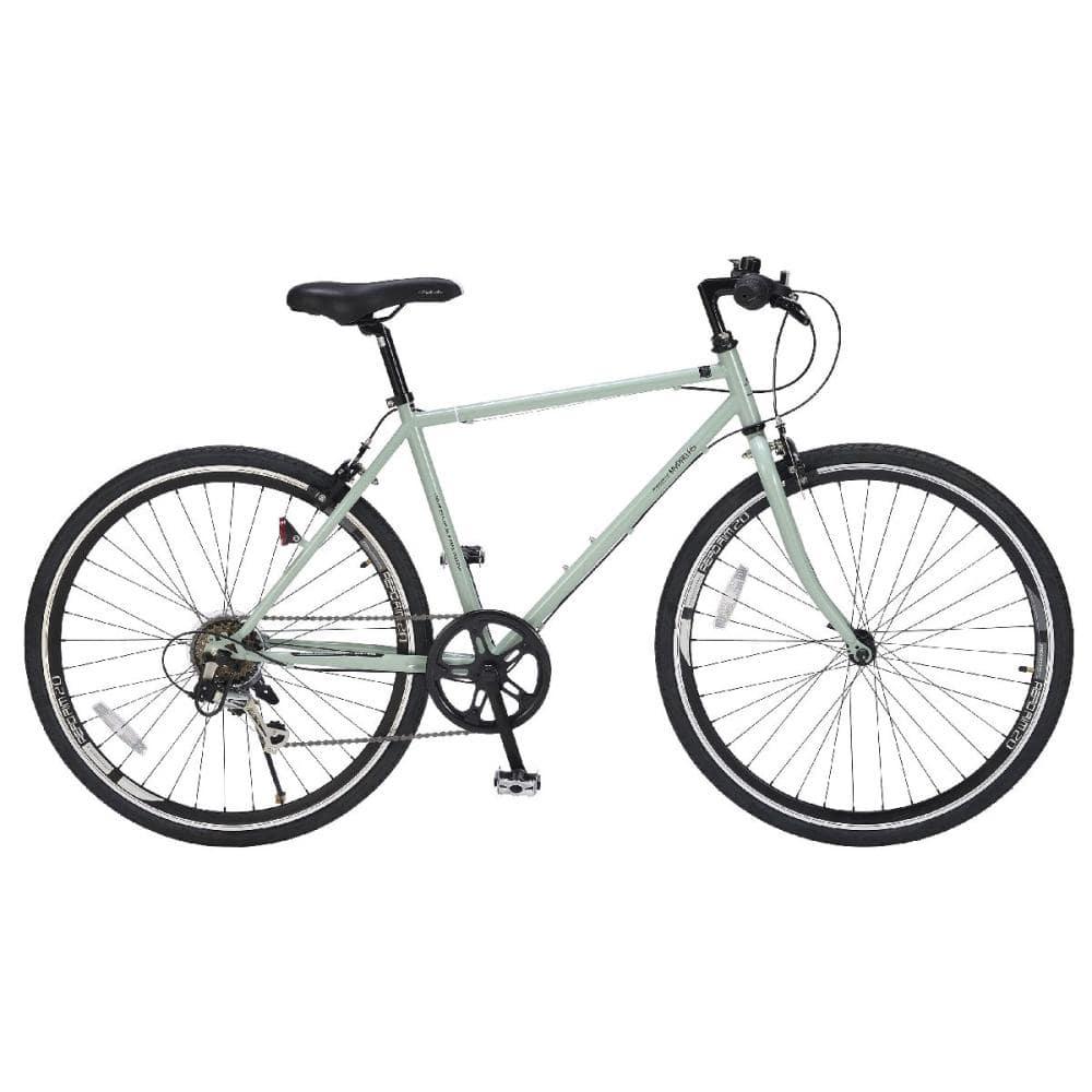 マイパラス クロスバイク 26インチ 6段ギア カーキ M-605