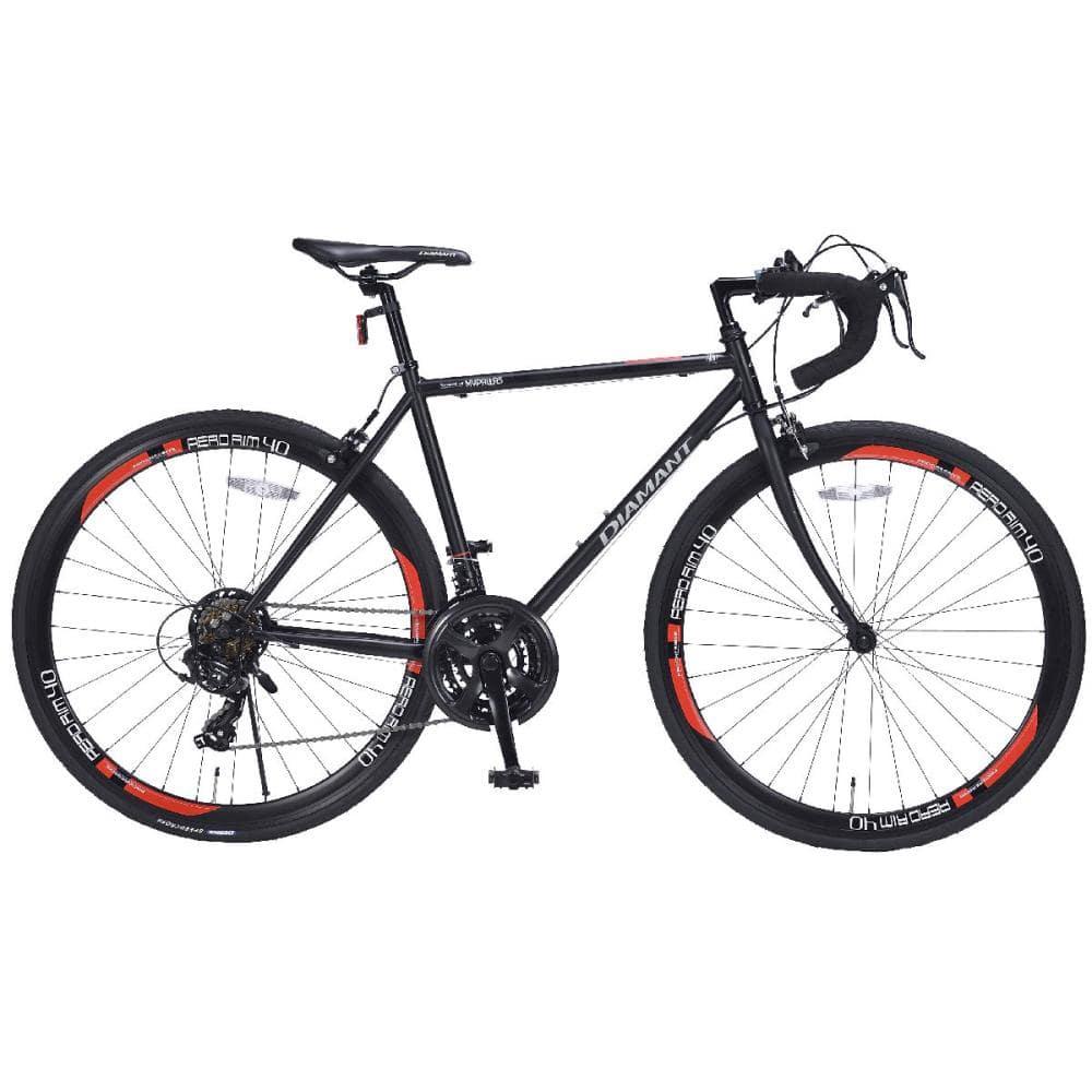 マイパラス ロードバイク700C・21段ギア ブラック/レッド MR-7001