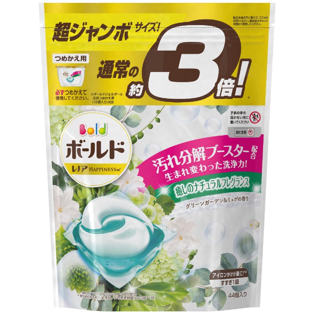 P&G ボールドジェルボール3D グリーンガーデン&ミュゲ 超ジャンボサイズ