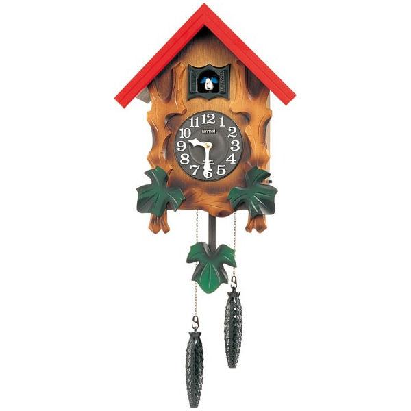 リズム時計 掛け時計 カッコー メルビルR 4MJ775RH06