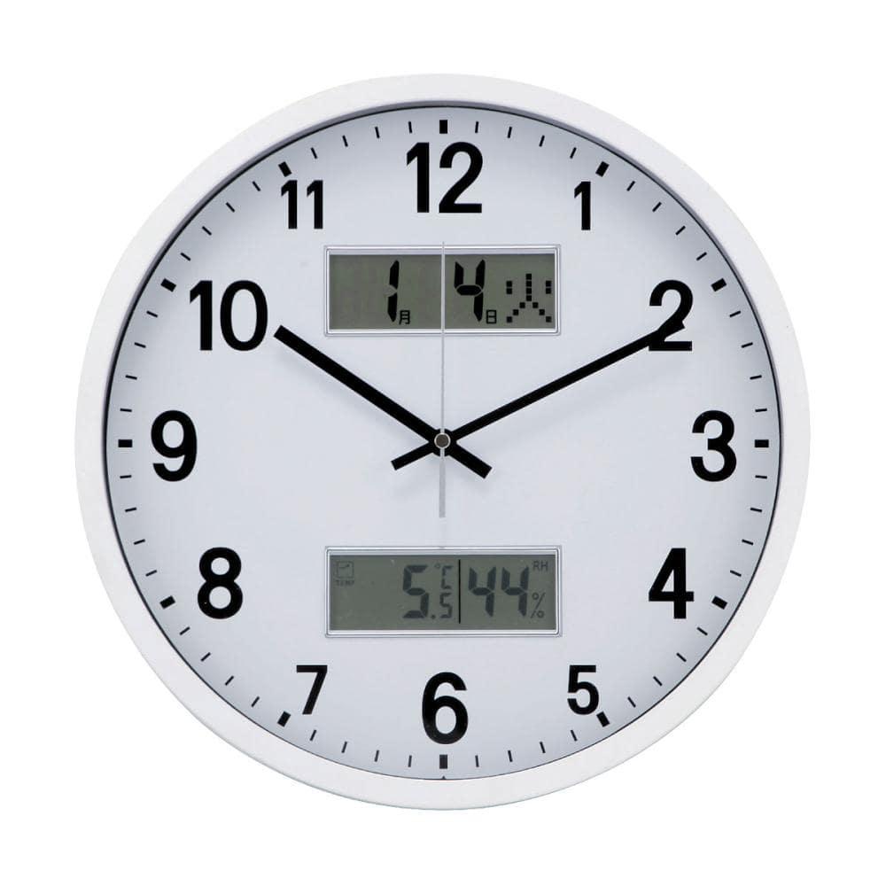 温度計カレンダー付き 電波掛時計 #7940