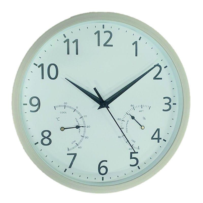 温度計付き 掛時計 #7969