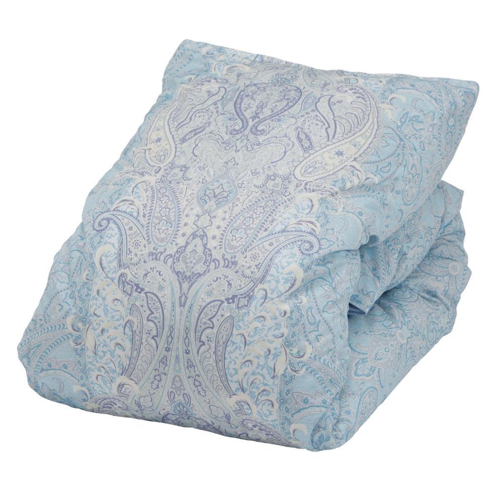 アテーナライフ 羽毛掛布団 ホワイトダックダウン50% ブルー シングルロング 150×210cm