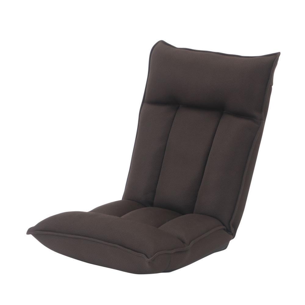 アテーナライフ 簡単操作レバー式低反発座椅子 ダークブラウン