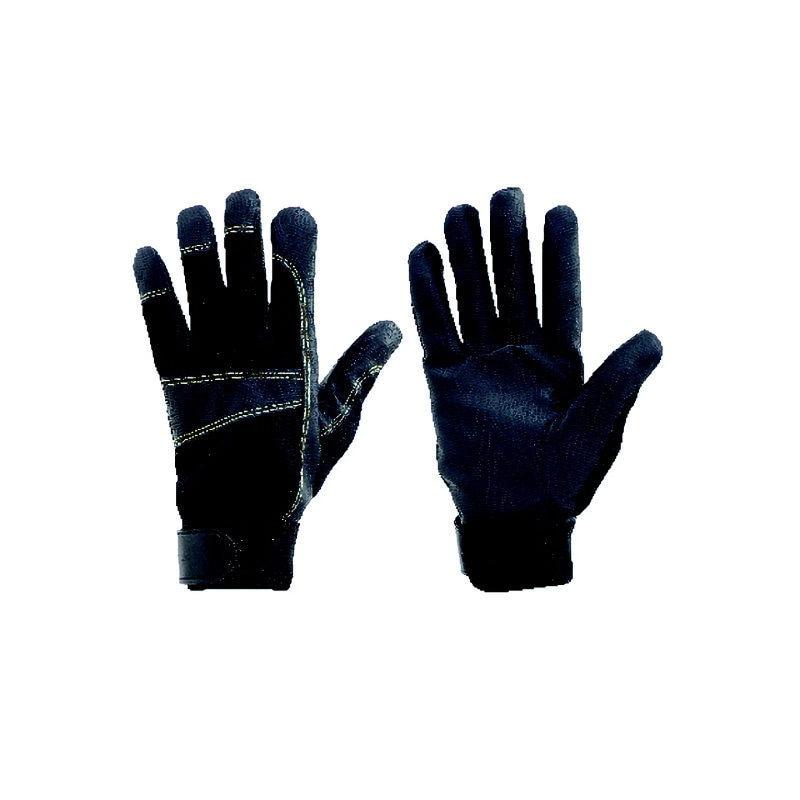 コメリ 防寒保温マジック付スマホ対応PU手袋 L