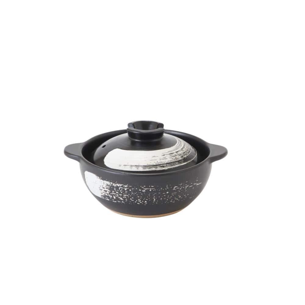 コメリ 土鍋 黒刷毛目ふきこぼれにくい土鍋 ガス火専用 各種