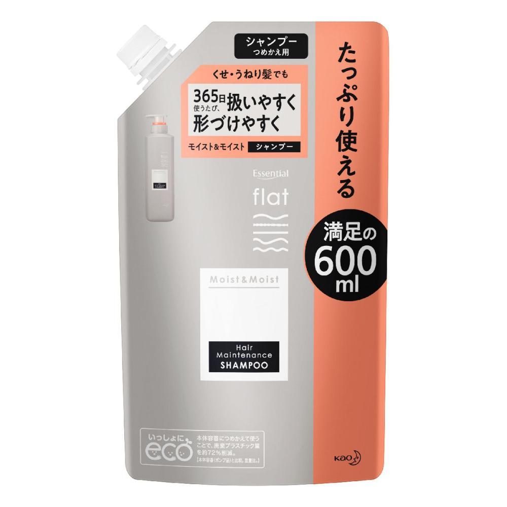 花王 エッセンシャルflat モイスト&モイストシャンプー 詰替用 600ml