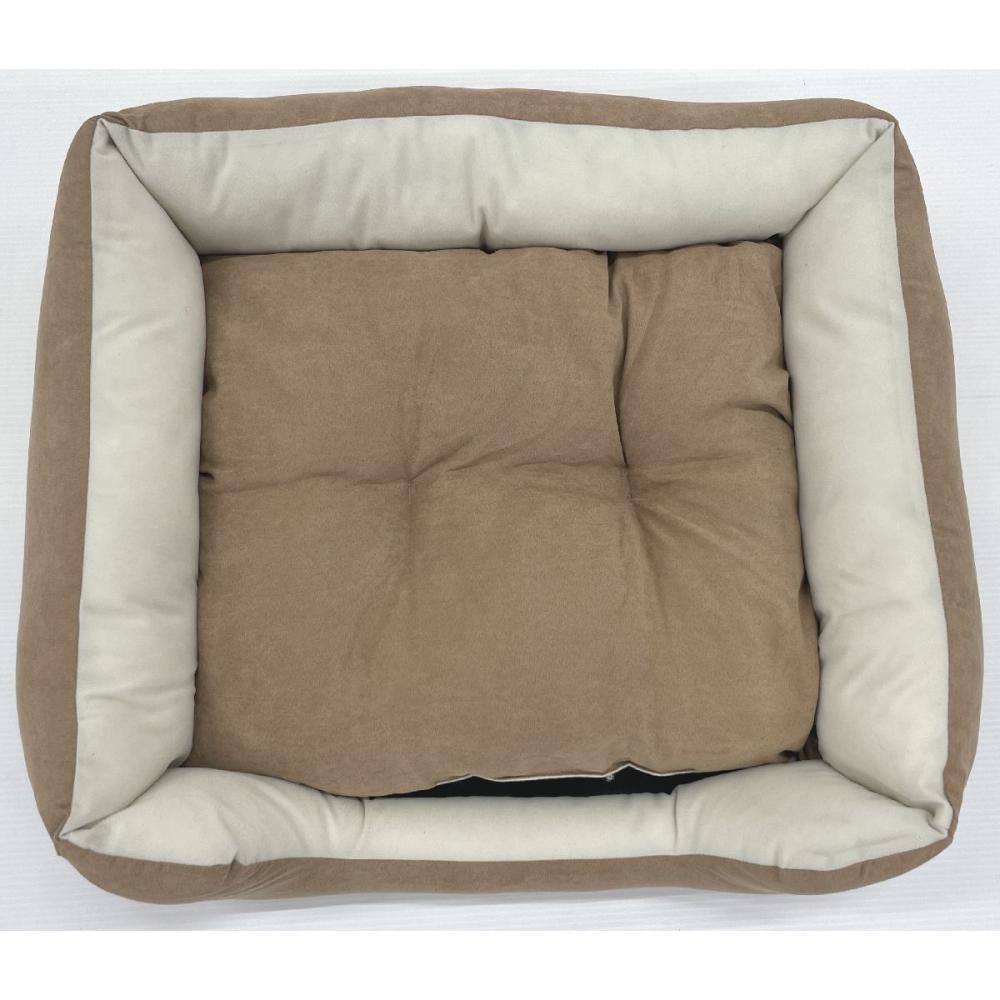 Petami ペットベッド スクエアタイプ ブラウン Mサイズ