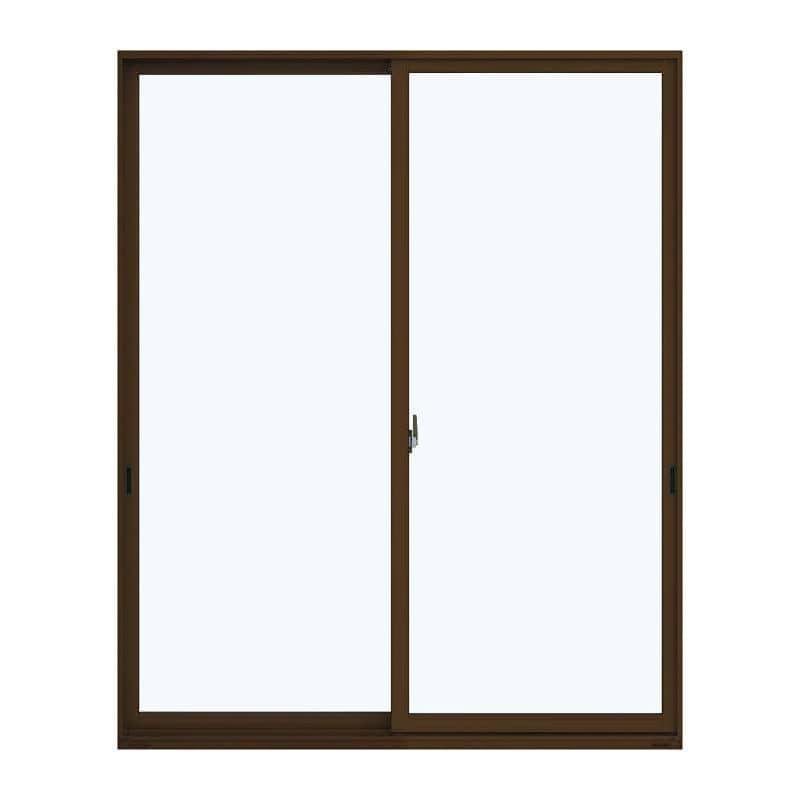 アルミ樹脂複合引違い窓 幅1690×高さ2030mm ガラス:透明 外色:ブラウン 内色:ホワイト