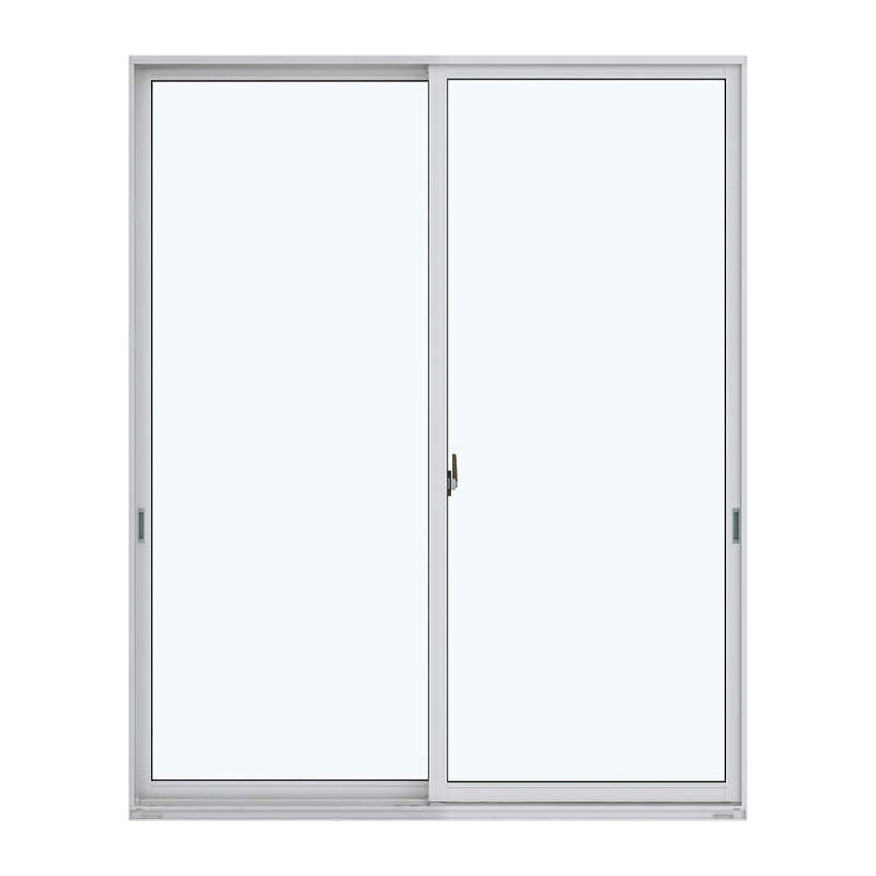 アルミ樹脂複合引違い窓 幅1690×高さ2030mm ガラス:透明 外色:ピュアシルバー 内色:ナチュラル