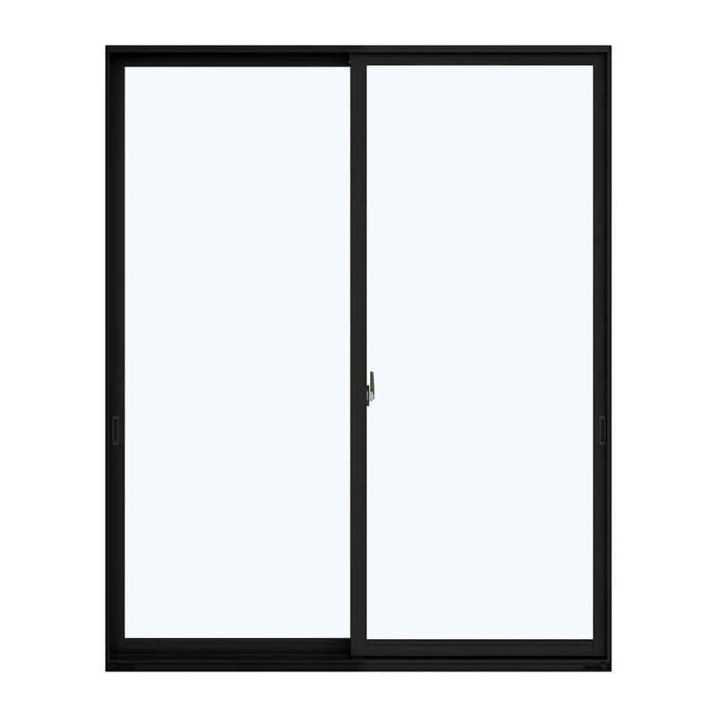 アルミ樹脂複合引違い窓 幅1640×高さ2030mm ガラス:透明 外色:カームブラック 内色:ダークブラウン