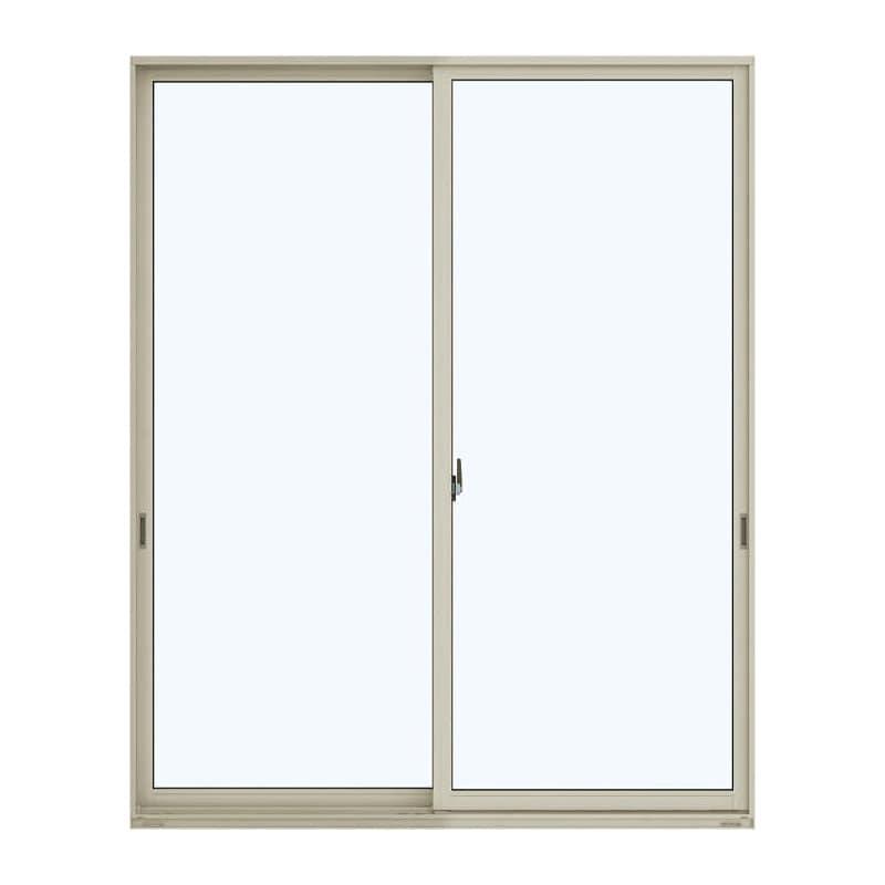 アルミ樹脂複合引違い窓 幅1640×高さ2030mm ガラス:透明 外色:プラチナステン 内色:ナチュラル