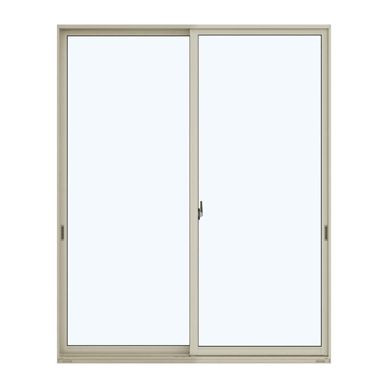 アルミ樹脂複合引違い窓 幅1640×高さ2030mm ガラス:透明 外色:プラチナステン 内色:ダークブラウン