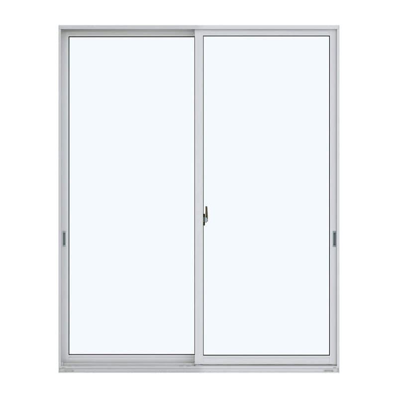 アルミ樹脂複合引違い窓 幅1640×高さ2030mm ガラス:透明 外色:ピュアシルバー 内色:ダークブラウン