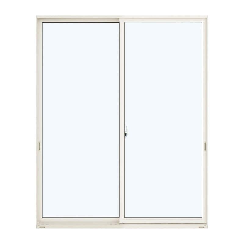アルミ樹脂複合引違い窓 幅1640×高さ2030mm ガラス:透明 外色:ホワイト 内色:ダークブラウン
