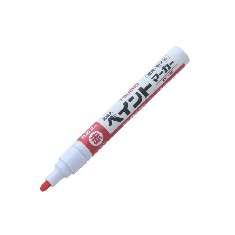 タジマ(TJMデザイン) 高耐久ペイントマーカー赤 KPEM-RED