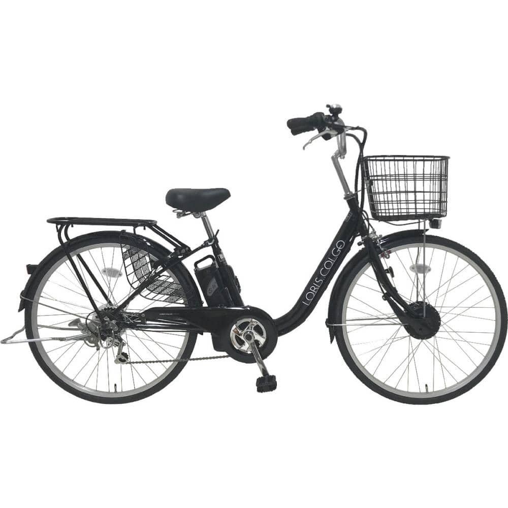 電動アシスト自転車 LEDオートライト 外装6段 26インチ ブラック