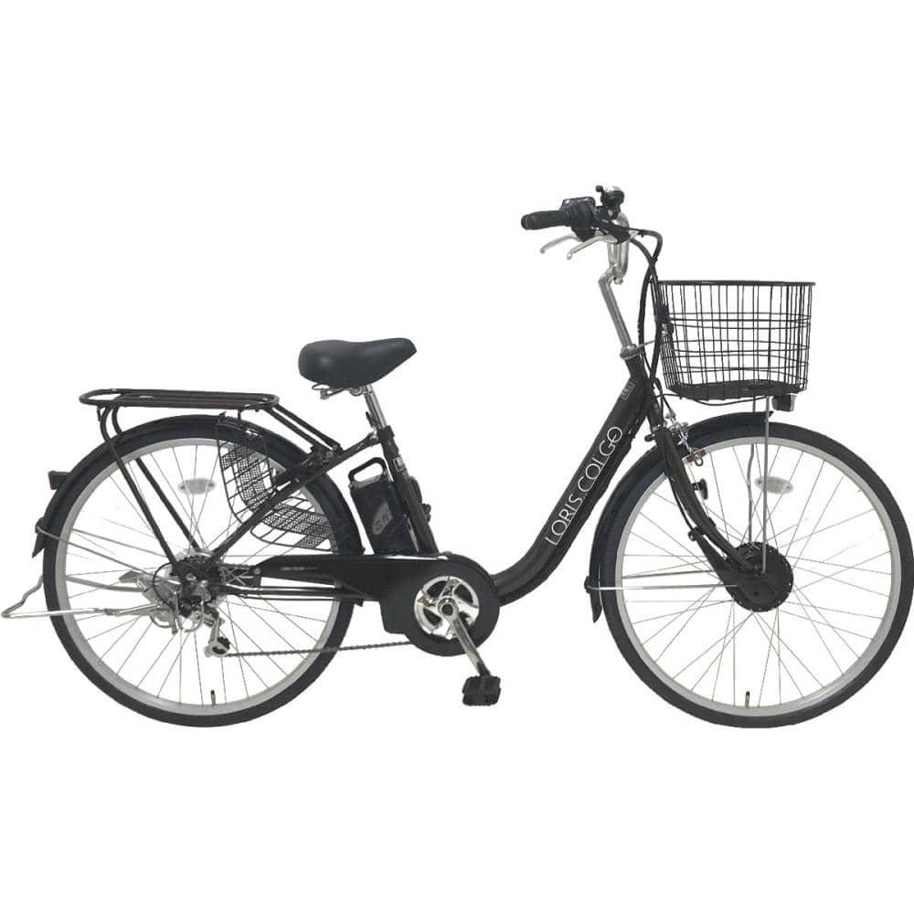 電動アシスト自転車 LEDオートライト 外装6段 26インチ ブラウン