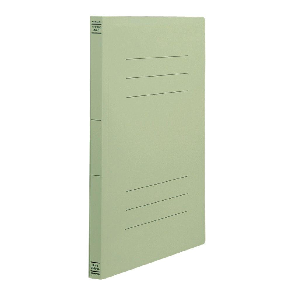 ナカバヤシ PP製フラットファイルA4 グリーン フF-PP80G